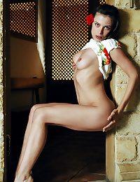 Beautiful Julietta shows her sexy full breasts
