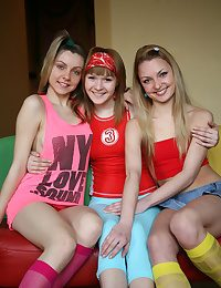 Provocative teenager girls