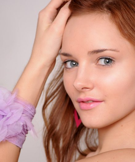 Angelic redhead teen